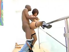 Tory Lane taking black bone deep inside