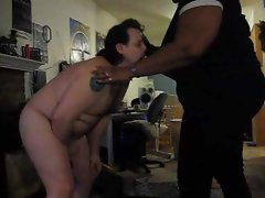 Fat guy gets kicked in the balls
