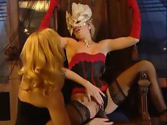 Lesbian lingerie girls have super hot sex