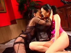 Sweet Japanese sluts and their pussy play fun