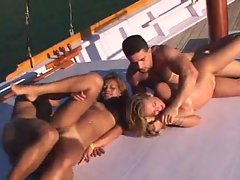 Sluts on a boat hammered and loving it