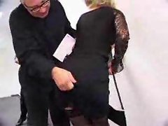 Anal sex with their secretary in stockings