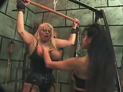 Femdom pain in this dungeon is sizzling hot