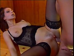 Incredible lingerie on this horny fuck slut