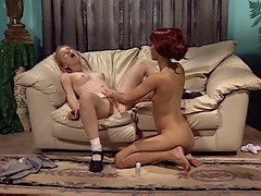 Blonde with pretty teen pussy is licked