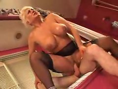 Mature gets the cock she desires so badly