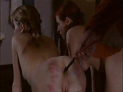 Sweet girls get enemas after spanking