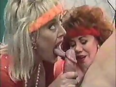 Aunt and mom try out his big hard cock