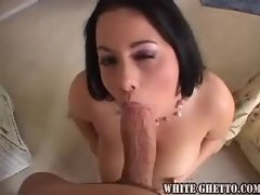 Chubby big tit hottie likes big cock