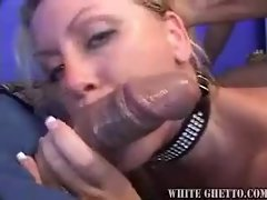 They fuck her holes and cum on her face