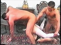 Pussy fisted while the ass is fucked