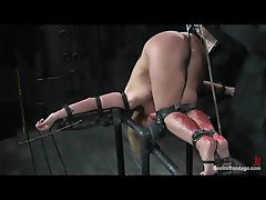 Hot wax and bondage for the girl