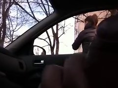Rus Public Masturb CAR Flash:)) Watching GIRL 57 - NV