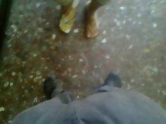 Mi  muy divina amiga de nuevo acariciandome con su pies 12