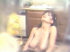 Erica Boyer &amp, Christy Canyon Mash Gash in the Kitchen