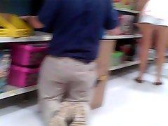 Trina flashing Walmart employee