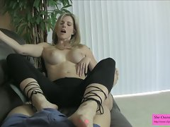Cory Chase Sexy Teasing and Ballbusting in Tights Preview