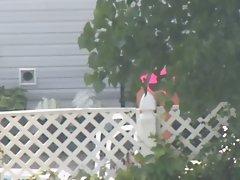 Spying on a Pink Bikini MILF 2 (nice horny ass)