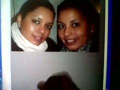 Cumshot Tribute to slut sisters Marcella &, Rowena