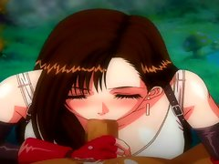 Final Fantasy VII - Tifa&amp,#039,s Handjob, Blowjob &amp, Boobjob