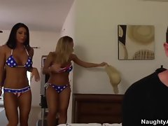 Three busty hot friends seduce their friend&amp,#039,s brother