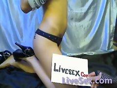 LiveSex.com - White glasses teasing