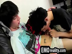 Emo twinks pleasure each other with blowjobs and rimjobs