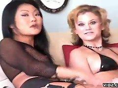 Hot slutty vixens love cock slamming