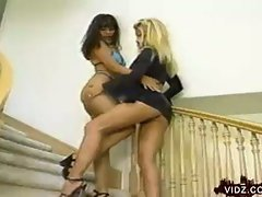 Jennifer leigh and charlene aspen sucking pussy in the stairs