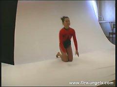 Young ballerina irina bends like a pro