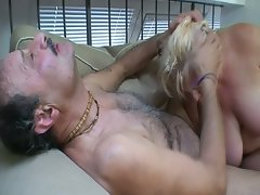 Horny granny fucks some nice big dick