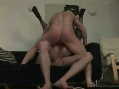 Hot milf double penetrated by two horny dudes