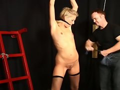 Amateur blonde abused in hot bdsm