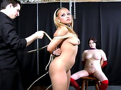 Sweet slutty whore takes on sweet pussy in some bdsm