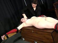 White which bondage crusifix slave training