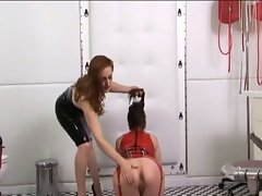 Lesbian punishment and training !
