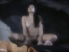 Horny babe get hard fucked in a cave