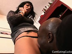 Interracial cunt eating and blowjob with andy san dimas