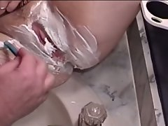 Fatty couple fucked hard on the bed