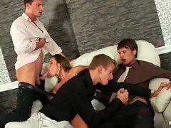 Dirty bisexual couples having fun