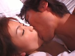 Horny asian couple fucking hard