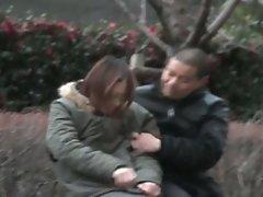 Asian babe groped in public