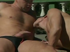 Amateur sex movie with one sexy babe and two dude