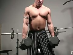 Cum join Billy in the gym working on himself in more ways than one!...