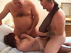 Two guys are outside goofing around when they meet up with a sexy...