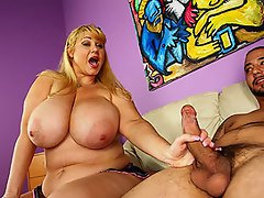 Busty MILF Samantha scolds young Joey for beating his meat. Joey begs...