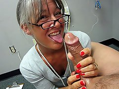 Over 40 milf strokes and handjobs a young stud...