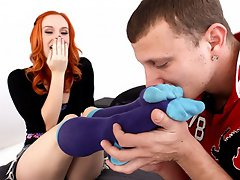 Dani Jensen gets her feet tickled and fucked by Mr. Pete!...