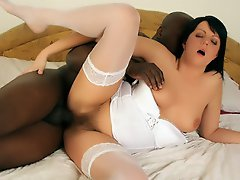 Adel likes to tease and leave on her lingerie while sex but...
