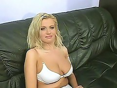 Meet Erika, she's a pretty blonde stacked with huge knockers and...
